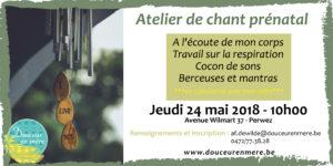 Atelier de Chant prénatal @ Douceur en Mère