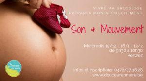Son & mouvement - préparation à la naissance @ Douceur en Mère