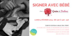 Atelier Signer avec bébé - Profondeville @ Graine de Bonheur